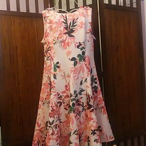 Calvin Klein Floral Skater Dress
